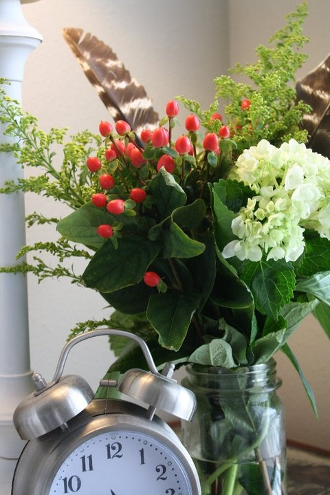 Add a feather for a unique element in a bouquet - professional look.