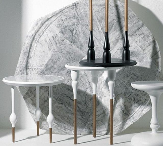 Philippe I White Side Table by Casamania #Coffee, #Crafted, #Table