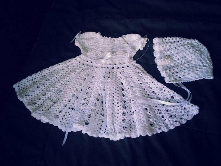 Vestido bautizo crochet   Mis creaciones crochet   Pinterest