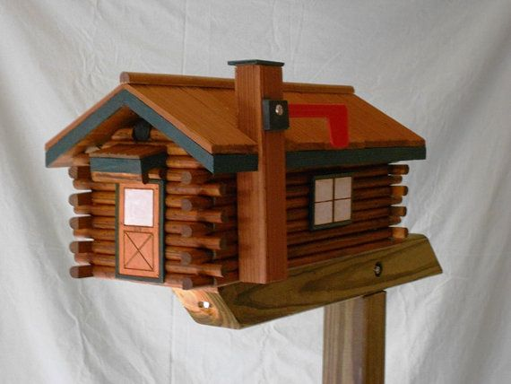 Log Cabin Mailbox One Of A Kind Be The Talk Of By CarvedByHeart, $149.99