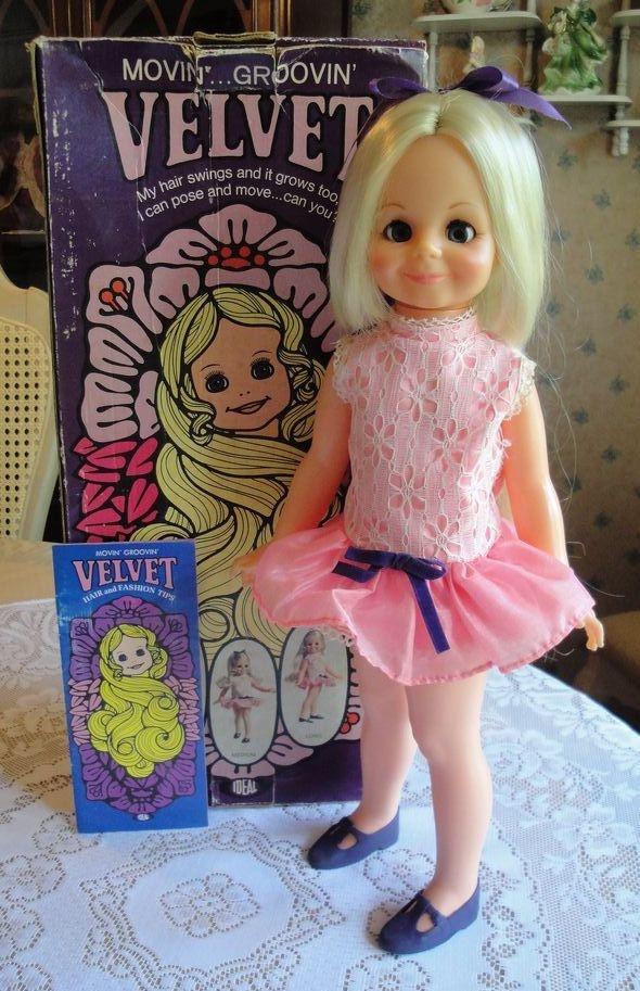 Velvet, with hair that grows--and I still have my Velvet doll!