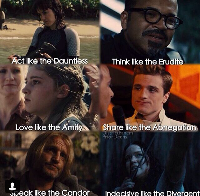 Hunger games divergent crossover