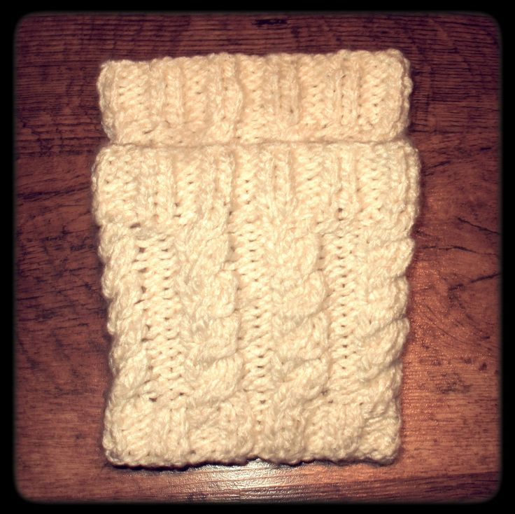 Cable knit boot toppers