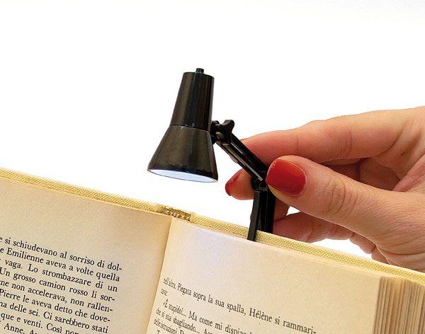 Mini lampada da lettura con clip