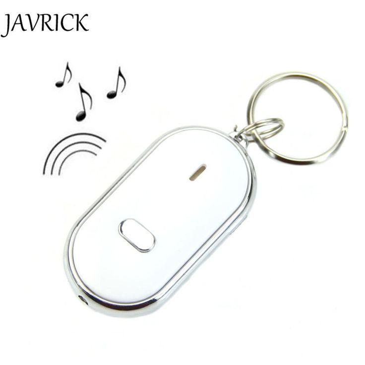 JAVRICK Новый Звук Свистка Управления Белый LED Key Finder Locator Найти Потерянные Ключи Брелок Цепи ZB380 купить на AliExpress