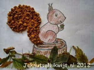 Maro's kindergarten: Squirrel & leaves collages!  Σκιουράκια κολλάζ με φύλλα!
