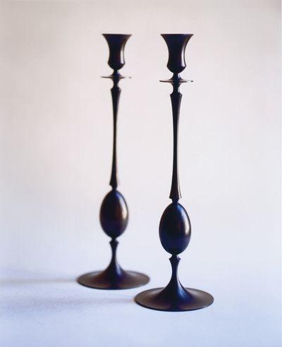 Biedermeier Candlesticks