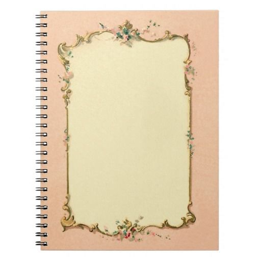 baby p ink vintage french blank page border for notebook hd sadiakomal