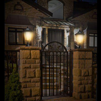 15 best gate posts images on pinterest exterior lighting gate solar lanterns for garden gate shop yard garden solar post lighting mozeypictures Image collections