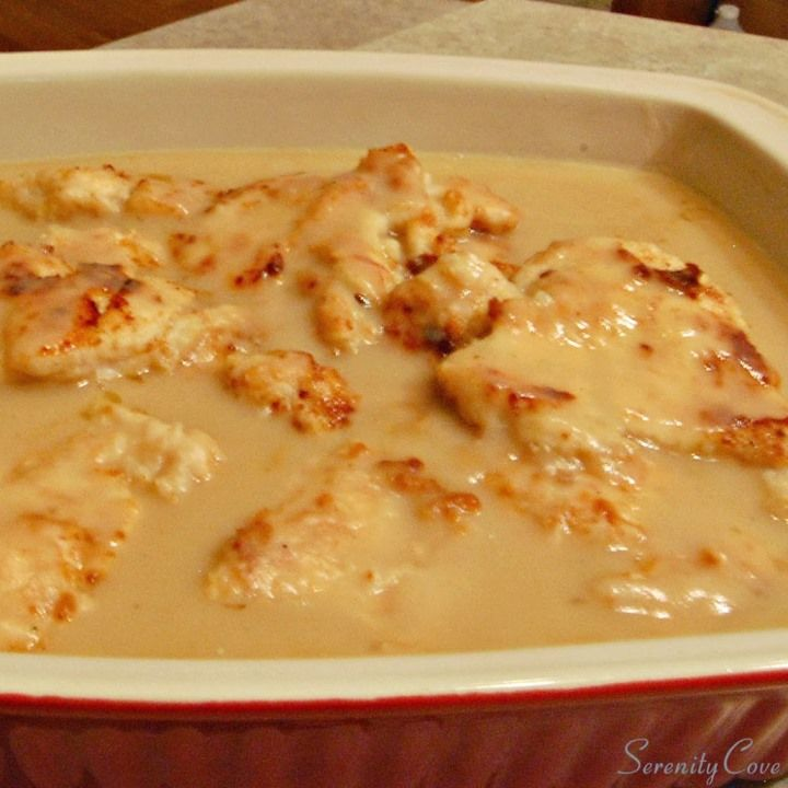 Baked Chicken Breasts in Gravy