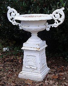 363 best urns images on pinterest garden urns urn planters and large kramer bros cast iron urn with elaborate ears workwithnaturefo