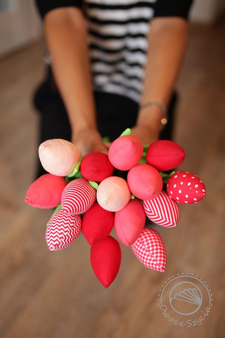 tulipany z materiału   tulips handmade #owoceszycia