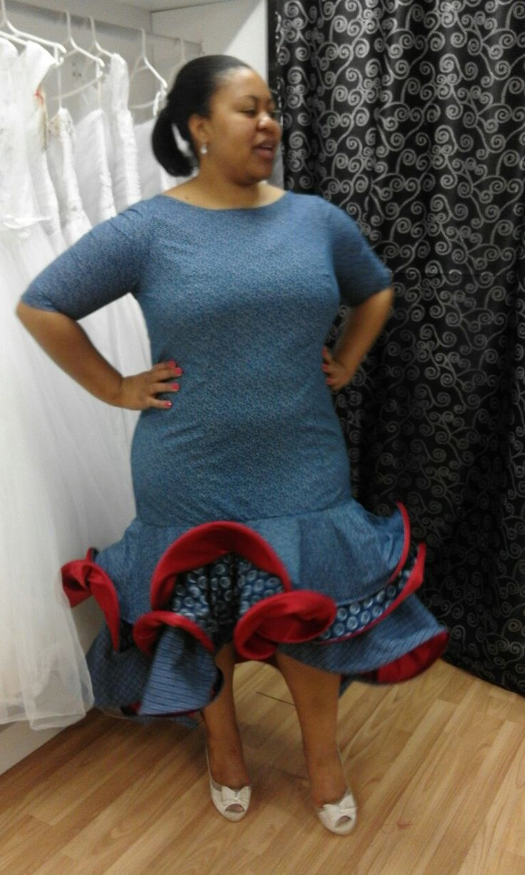 Tswana blue traditional flapper by mx-creations