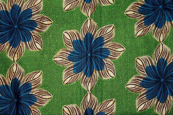 Afrikanskt tyg - African WAX Print i härliga färger - 5,47 meter på