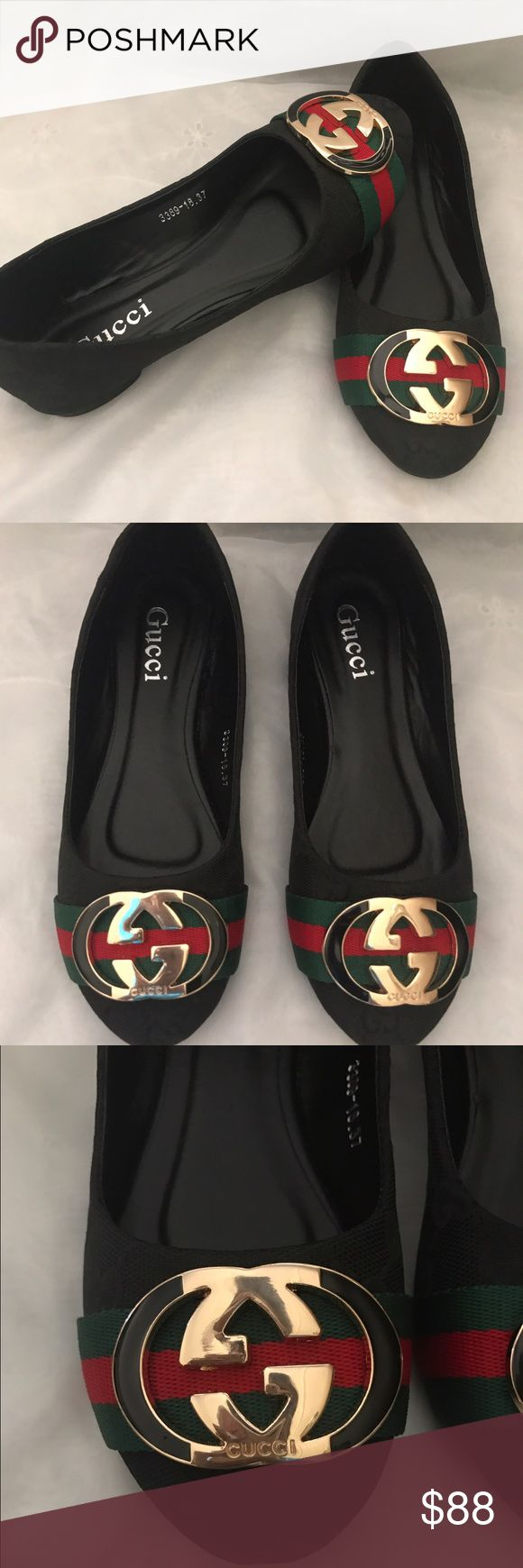 Gucci flats New have never been worn Gucci flats size 37 fit a 7  High quality clone. Gucci Shoes Flats & Loafers