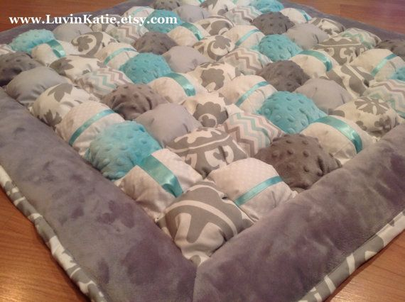 Bubble Quilt Bubble Blanket Puff Quilt Baby Floor by LuvinKatie
