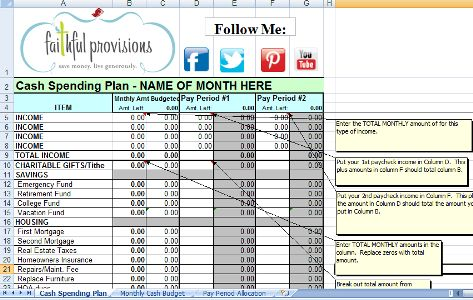 20 best images about Money Mgmt on Pinterest - how to do a budget spreadsheet