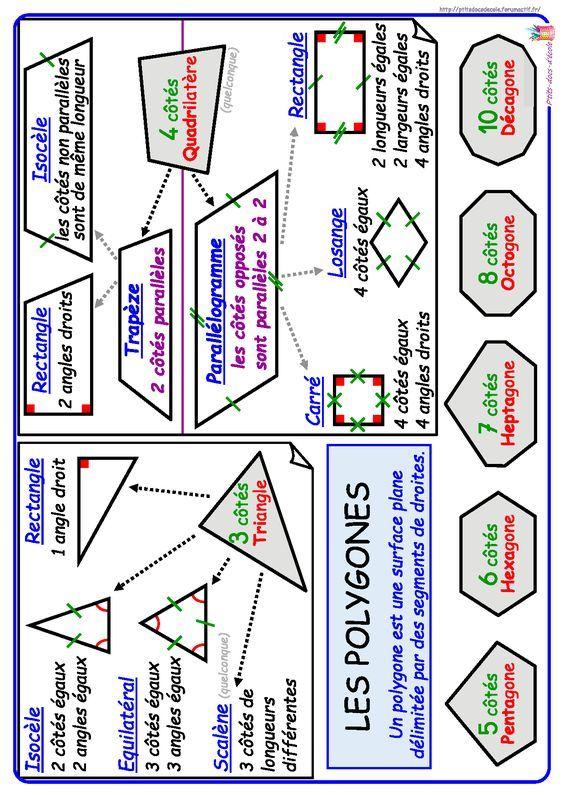 Un référent simple sur les principaux polygones en CE1 et CE2