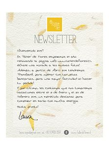 Newsletter for a florist Illustration Design and layout