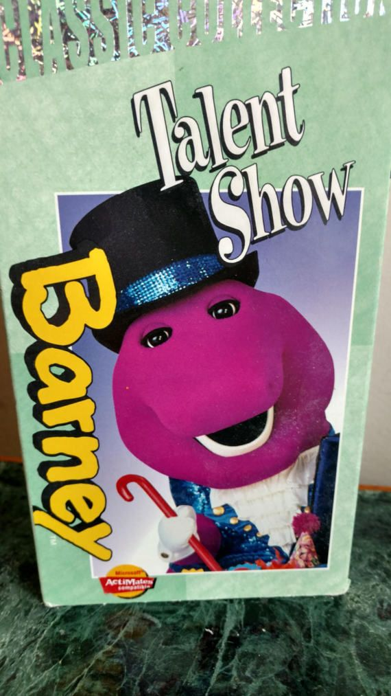Barney The Dinosaur's 'Talent Show' VHS Movie Tape