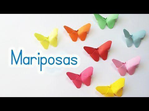 Manualidades: MARIPOSAS de PAPEL (fácil y rápido) - Innova Manualidades - YouTube