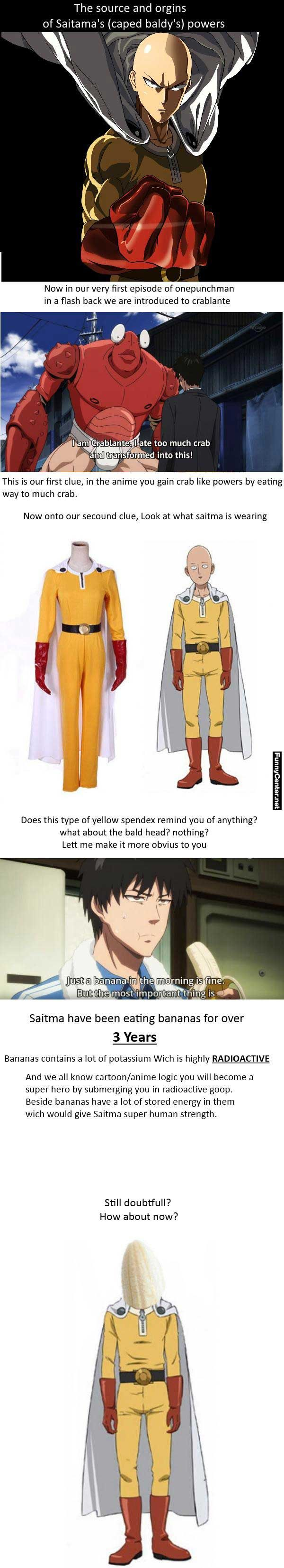 They might be on to something Secret Of Saitama's Powers - One Punch Man