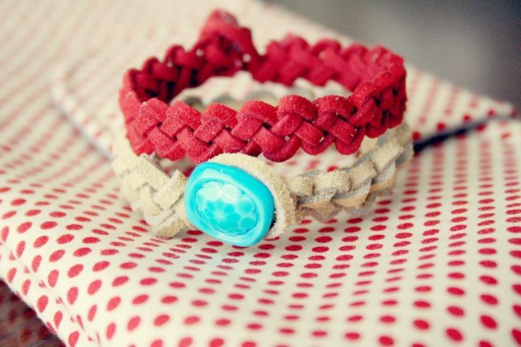 Buggie and Jellybean: Slip Knot Leather Bracelets {DIY}