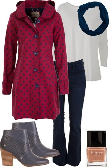 Warm And Spotty Outfit includes Butter London, Betty Basics, and Hatley - For everything but the girl