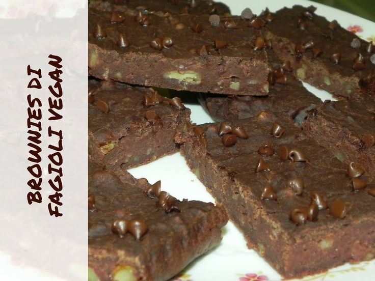 BROWNIES DI FAGIOLI VEGAN