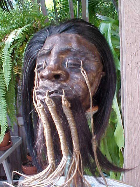 shrunken head~need to spice up my heads.