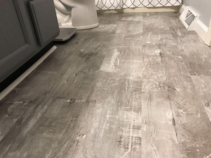 Scraped stone Lifeproof vinyl flooring we picked up at The