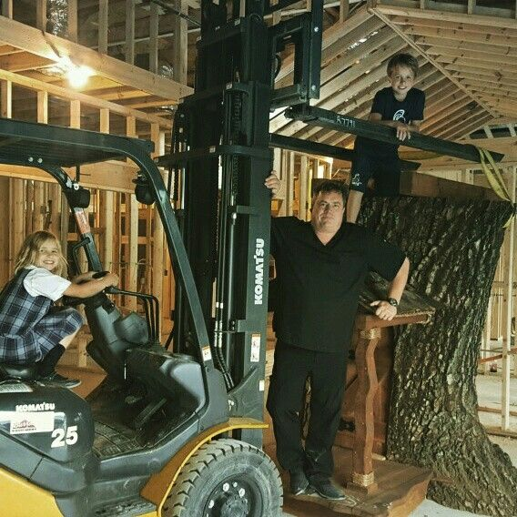 Dr. Mark delivers the indoor treehouse to our new Lake Zurich office!