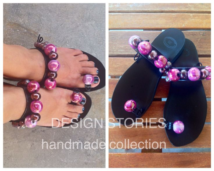 Limited edition handmade sandals decorated with hand painted ceramic stones Χειροποίητα δερμάτινα σανδάλια περιορισμένης έκδοσης διακοσμημένα με κεραμεικές πέτρες. Τα λατρέψαμε εσείς; #designstoriesbyelenipetraki #sandalcollection2015