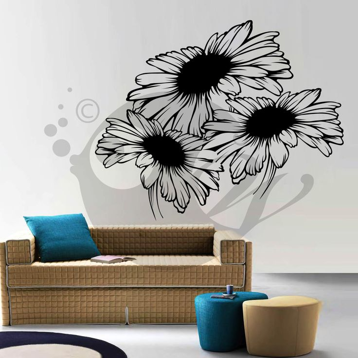With this Sunflowers Wall Sticker Decal you can decorate your walls in one of the most modern and elegant ways