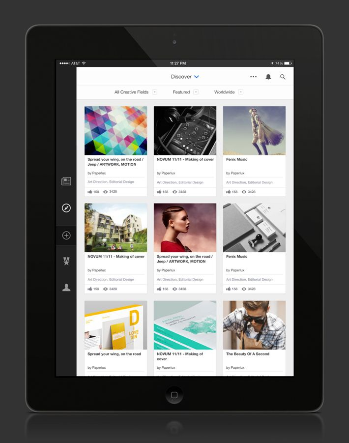 Behance iOS7 App Daily by Eric Snowden, via Behance