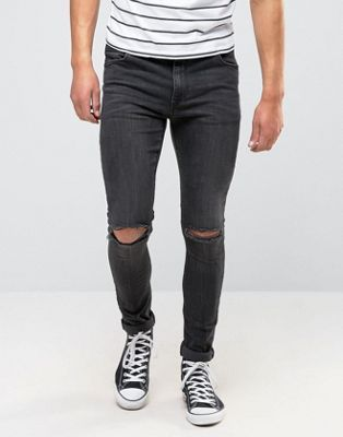 Супероблегающие рваные джинсы ASOS