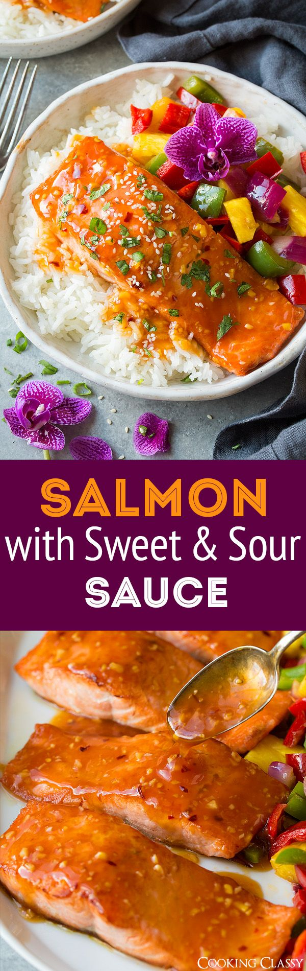 Pan Seared Salmon With Sweet And Sour Sauce