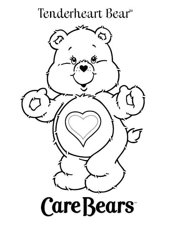 Cartoon standing bear coloring pages ~ 17 Best images about Coloring pages: Cartoons on Pinterest ...