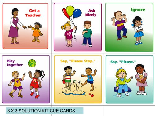 "Solution cue cards ""If you're happy and you know it clap your hands. If you're frustrated and you know it ask for help. If you're angry and you know it say I'm mad..."""