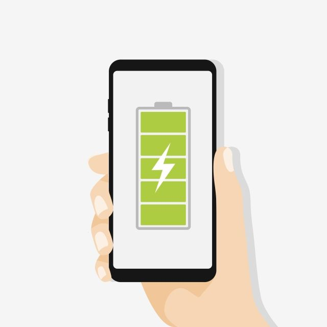 hand holding smartphone with full battery vector and png ในป 2020 pinterest