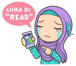 Flower Hijab : Daily Talk - Creators' Stickers