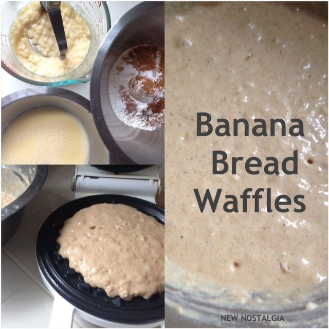 ... Bread Waffles With Cinnamon- Brown Sugar Syrup. #bananabread #waffles
