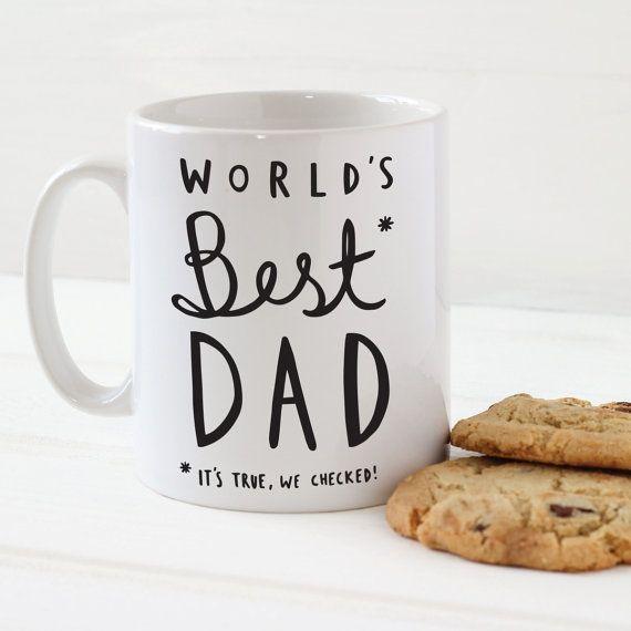 World's Best Dad Mug  Stylish Ceramic Mug for Dad  by OldEnglishCo, £9.95