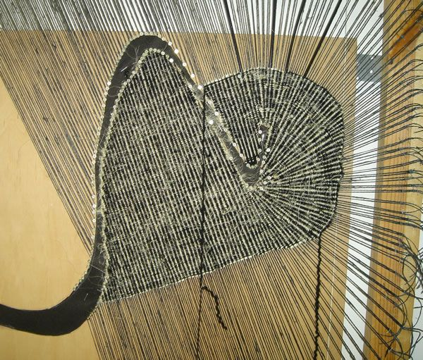 Wlodzimierz Cygan, loom setup for interior opening and diverging warps