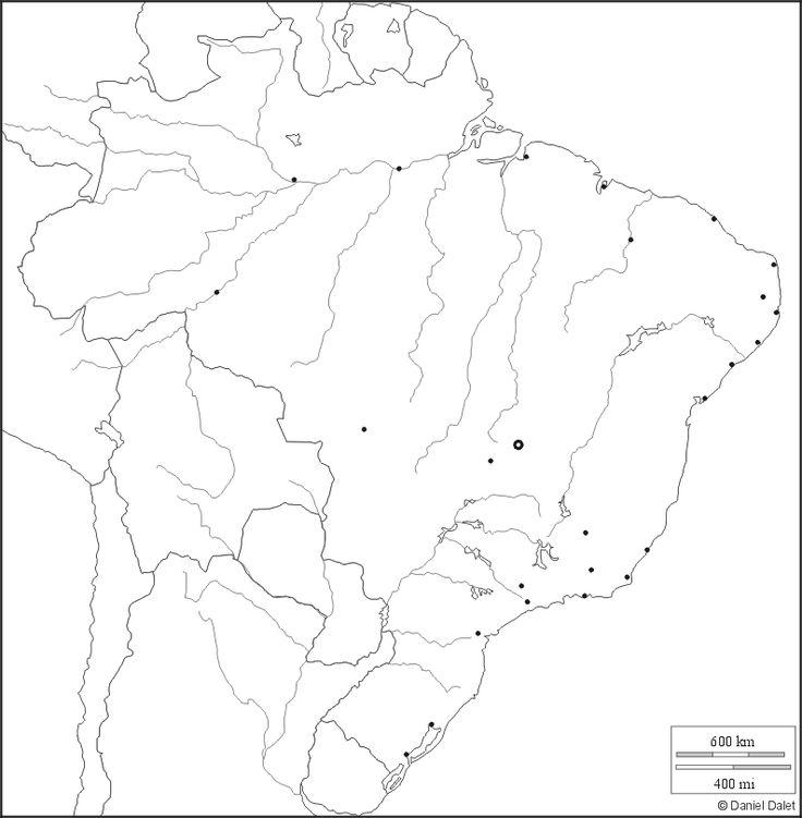 Carte Du Bresil Vierge Avec Les Villes L Hydrographie Et L