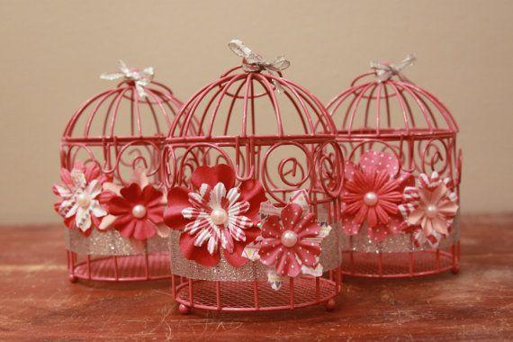 Mini birdcage centerpieces - photo#28