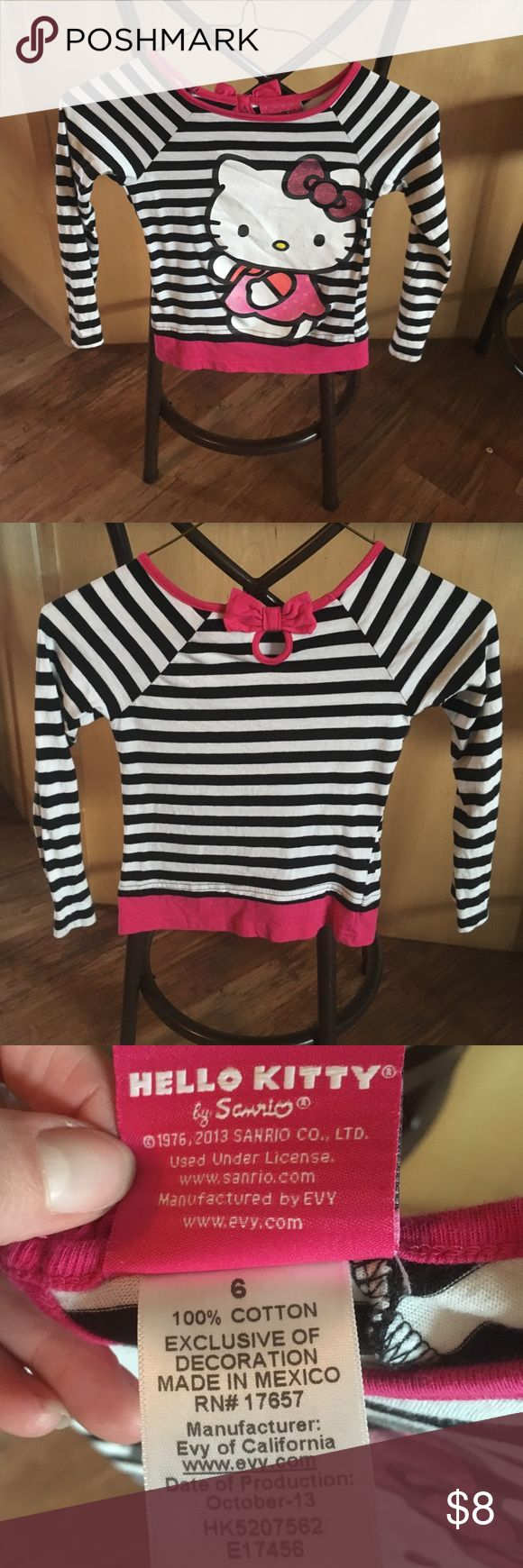 Hello Kitty girl long sleeve shirt size 6. Girls black, white, and pink Hello Kitty little lady (girl) long sleeve shirt. Hello Kitty Shirts & Tops Tees - Long Sleeve