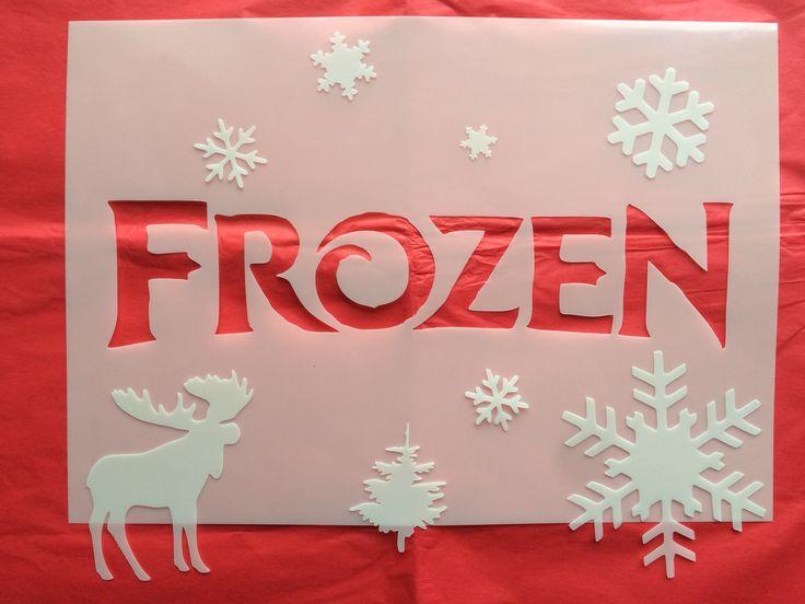 Frozen custom stencil - CreateCuts
