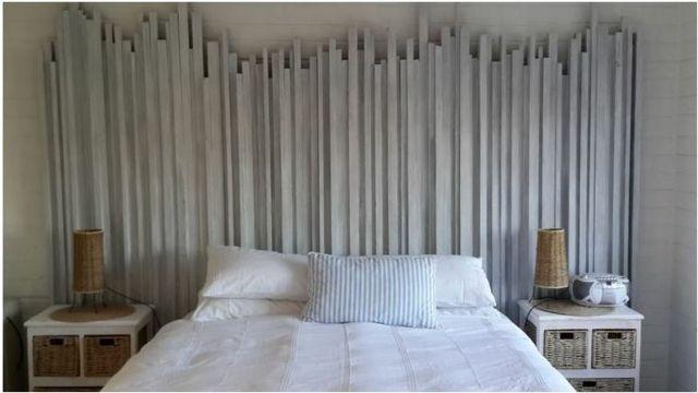 Cette palissade irrégulière est en fait une tête de lit