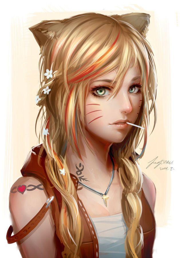 narisovannaya-blondinka-s-hvostikami-konchat-zhenshinam-v-popku